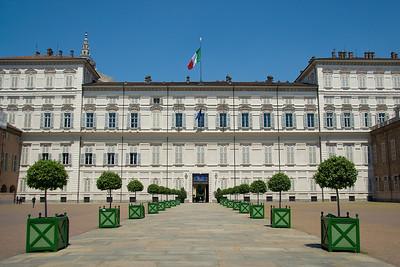 Royal Palace of Turin facade in Turin, Italy