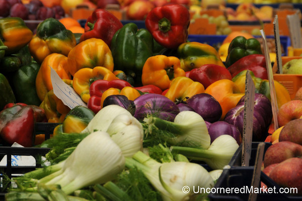 Colorful Fall Veggies - Cortona, Italy
