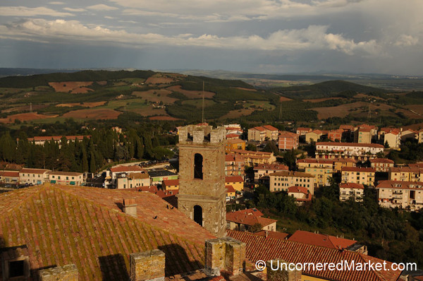 View Into the Valley from Manciano - Maremma, Tuscany