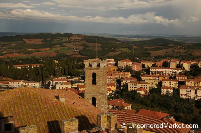 View Into the Valley from Manciano - Maremma, Tuscany