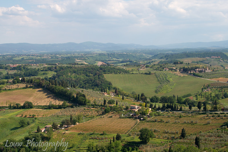 Picturesque view of Tuscany