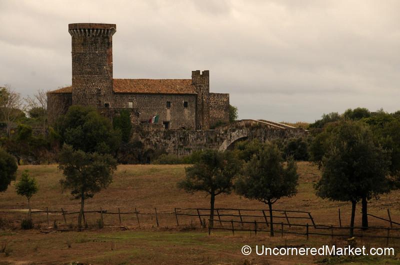 View of Badia Castle at Vulci - Italy