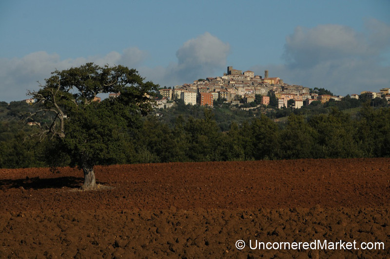 Maremma Landscape with Manciano on the Hill - Tuscany, Italy
