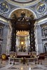 St. Peter's Basilica Altar with Bernini's Baldacchino (canopy)