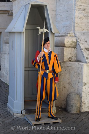 Vatican Guard Uniform designed by Michelangelo