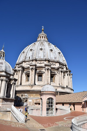 St Peter Basilica - On the roof