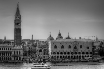 The Piazza San Marco in B&W - Venice, Italy