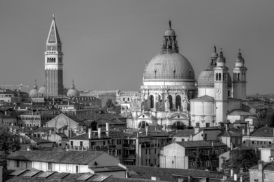 Venice city skyline in B&W - Venice, Italy