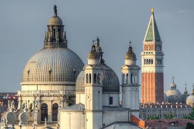 Domes of Santa Maria della Salute and St. Mark's Bell Tower - Venice, Italy