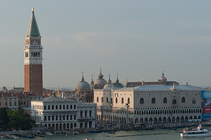 St. Mark's Square in Venice taken from my room aboard the Carnival Magic