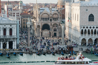 View of the St. Mark's Cathedral from across the Grand Canal - Venice, Italy