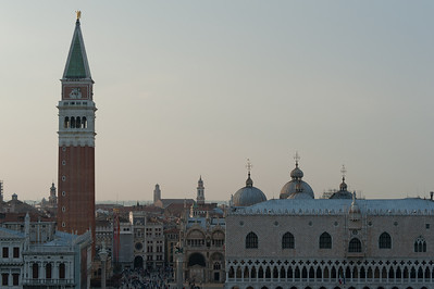 Aerial view of the Piazza San Marco in Venice, Italy