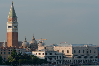 St. Mark's Bell Tower and Doge's Palace in Piazza di San Marco - Venice, Italy