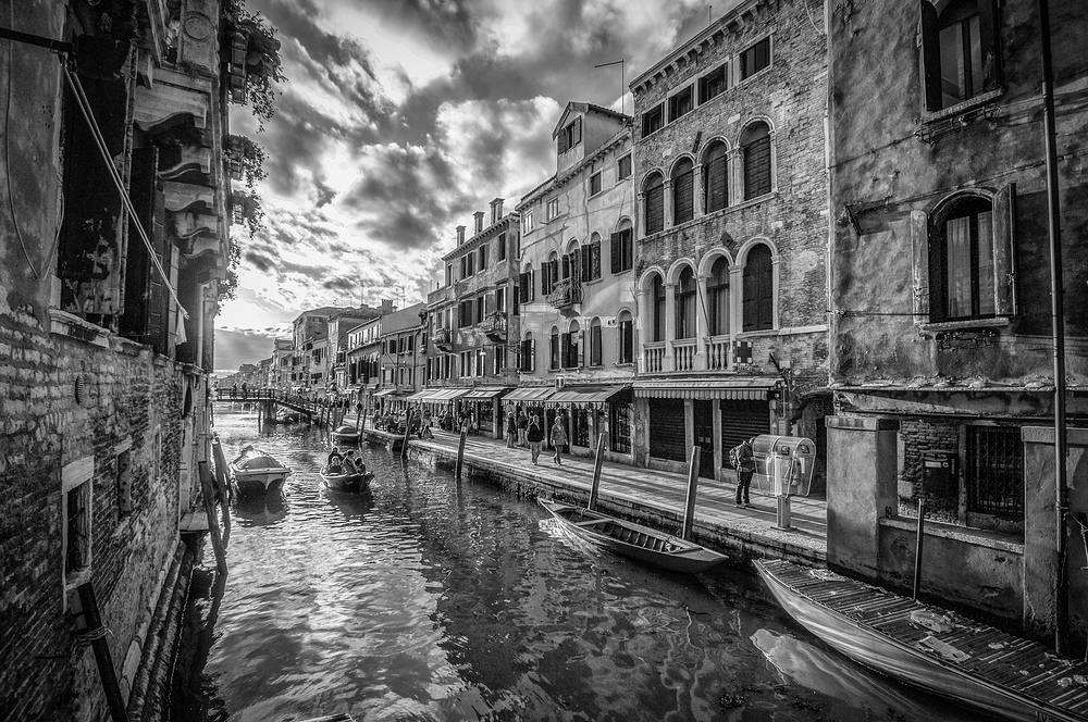 A Venetian Canal at Sunset