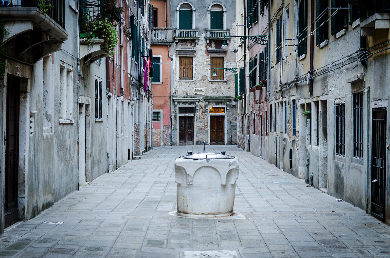 Venice has approximately 231 of these old wells. The city depended on them for fresh water until a modern water system was installed in 1884.