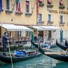 Gondolas in front of the Hotel Cavalletto.