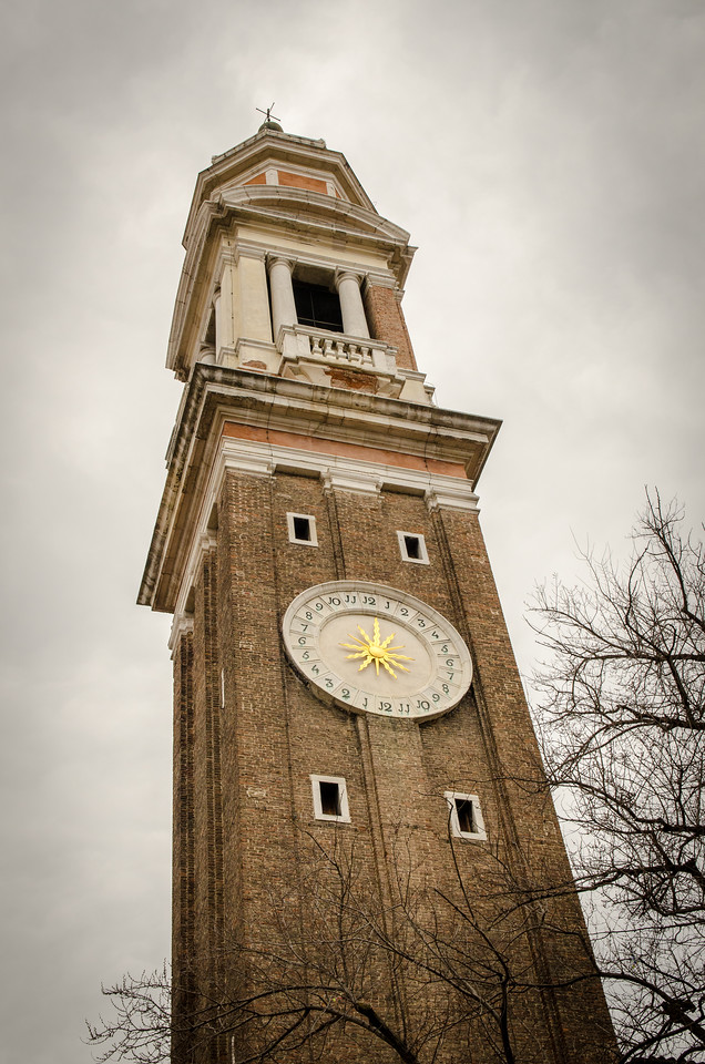 The Bell Tower of Santi Apostoli Church.