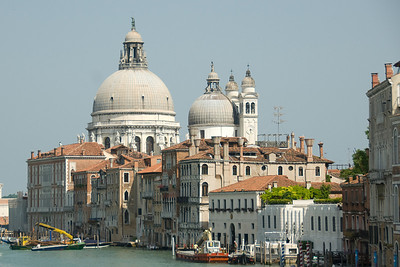The domes and towers of Basilica di San Marco in Venice, Italy