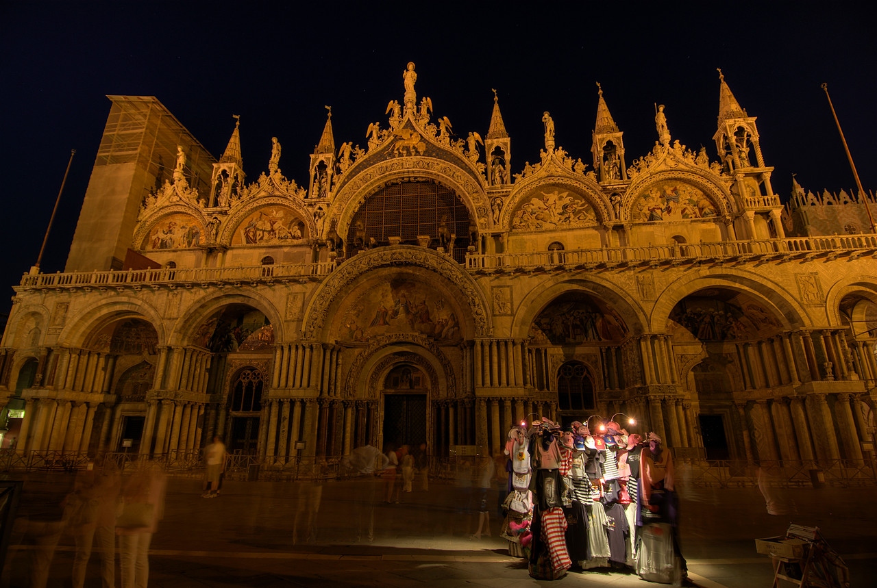 Night time in St. Mark's Square - Venice, Italy