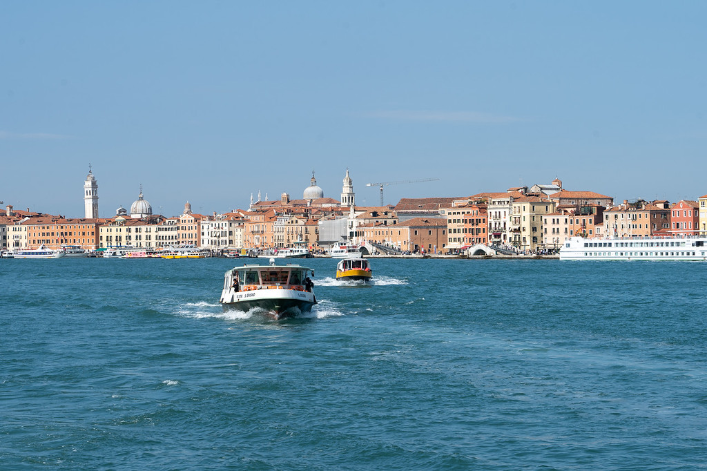 Water taxis in Venice, Italy