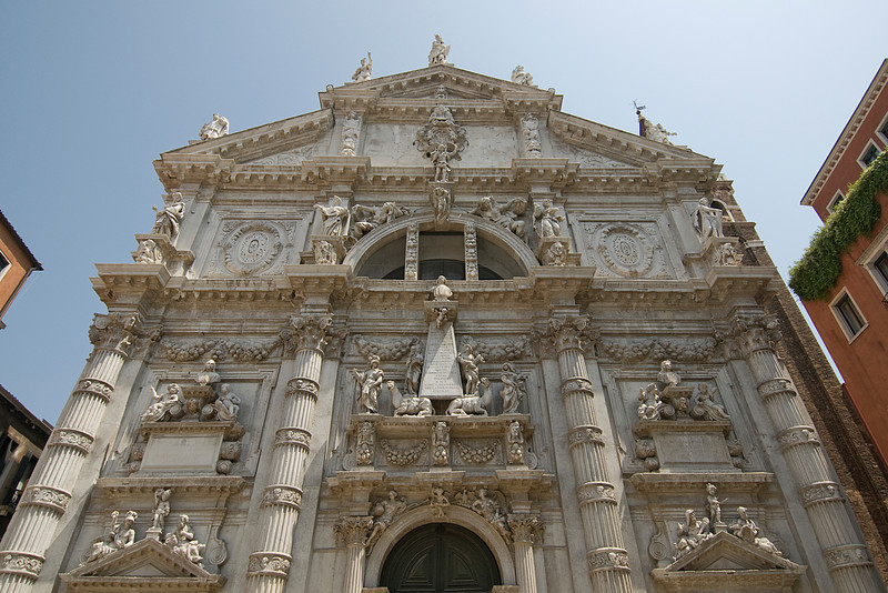 Church of San Moisè (or San Moisè Profeta) in Venice, Italy