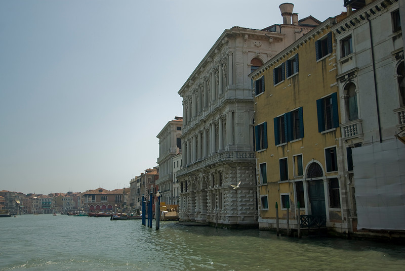 Buildings along the Grand Canal in Venice, Italy