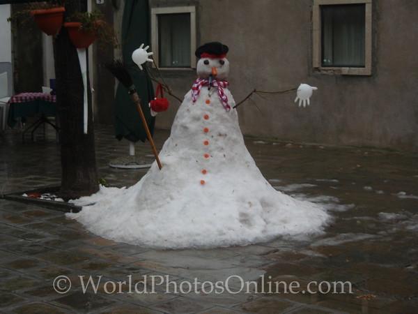 Venice - Snowman on Murano 2010