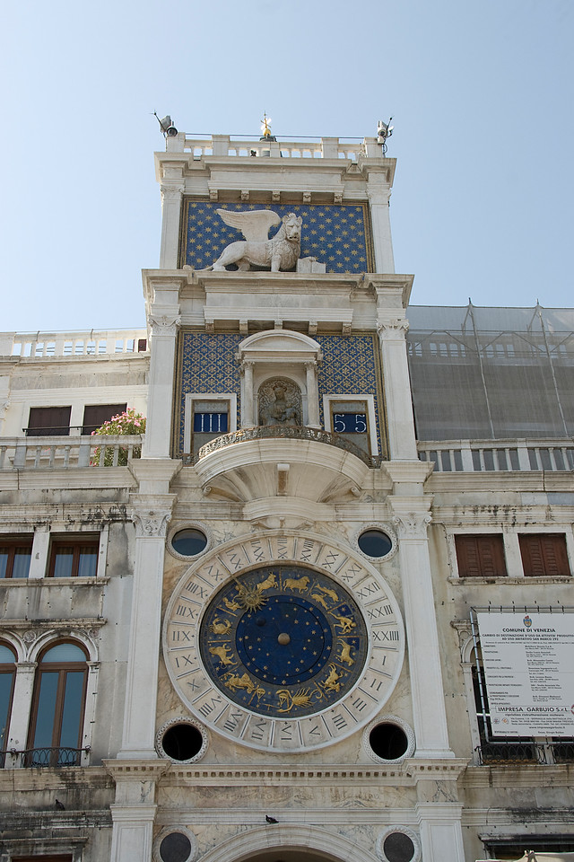 St.Mark's Clock in Piazza San Marco, Venice, Italy