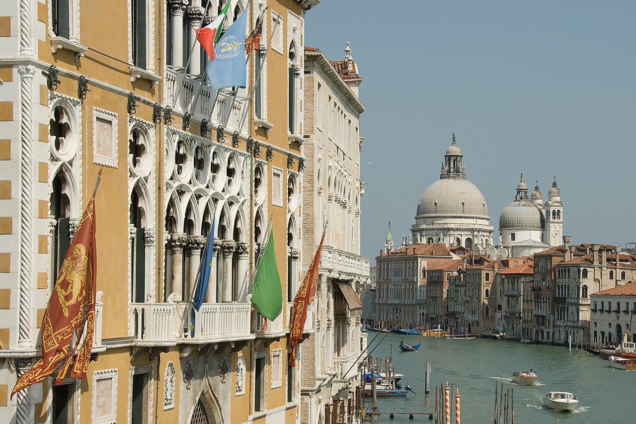 Santa Maria della Salute and the domes of St. Mark's Basilica - Venice, Italy
