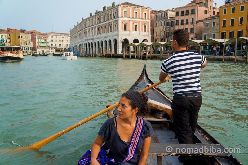 Me on a gondola ride in Venice