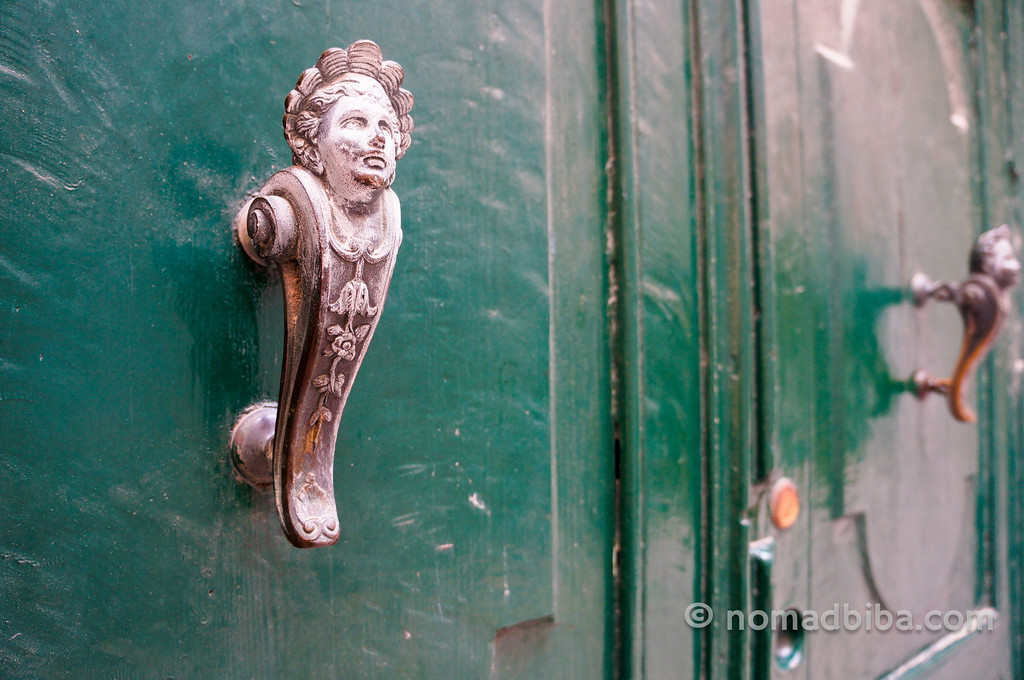 Door handles in Venice