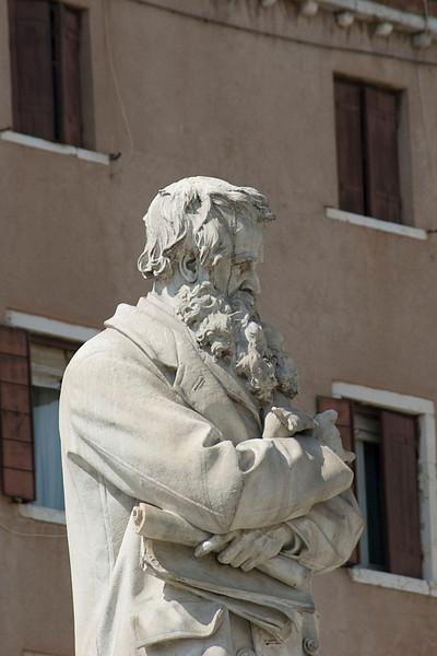 Statue of Nicolò Tommaseo in Venice, Italy