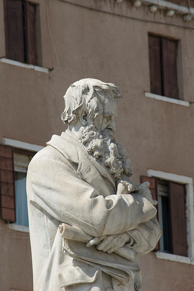 Statue of Nicolò Tommaseo in Venice, Italy