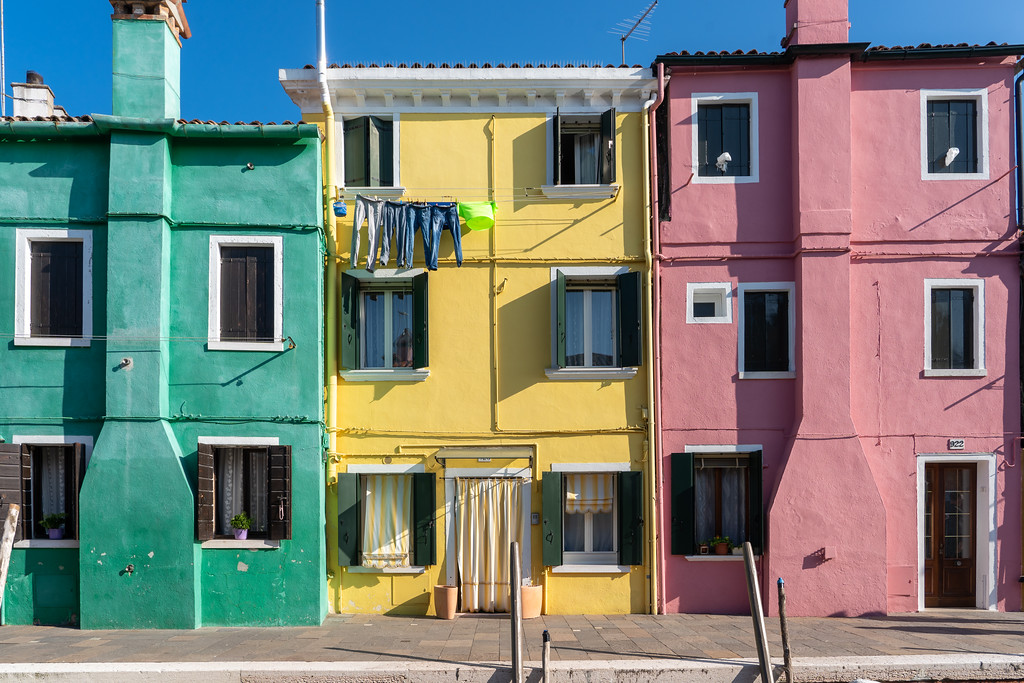 Colorful houses in Burano
