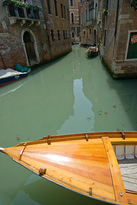 Shot of a gondola in Venice, Italy