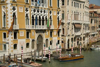Gondola in front of the Santa Maria della Salute in Venice, Italy