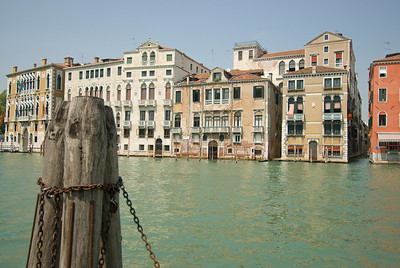 Buildings on a canal in Venice, Italy