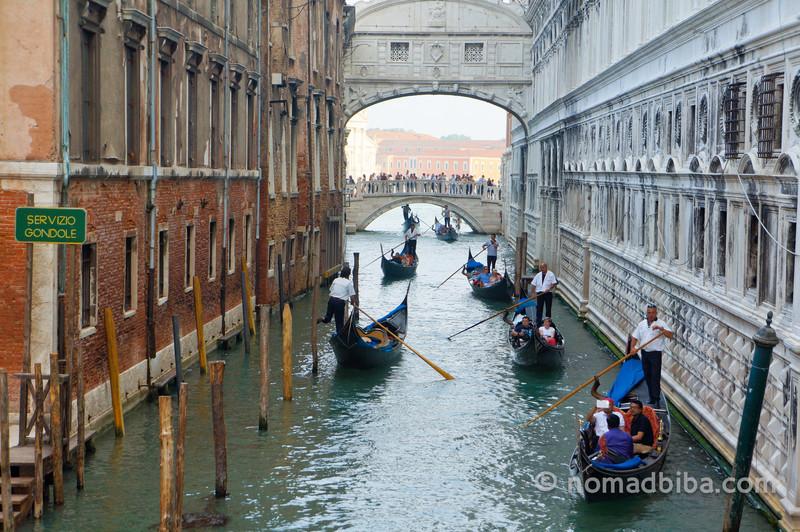 Gondolas and the Bridge of Sighs