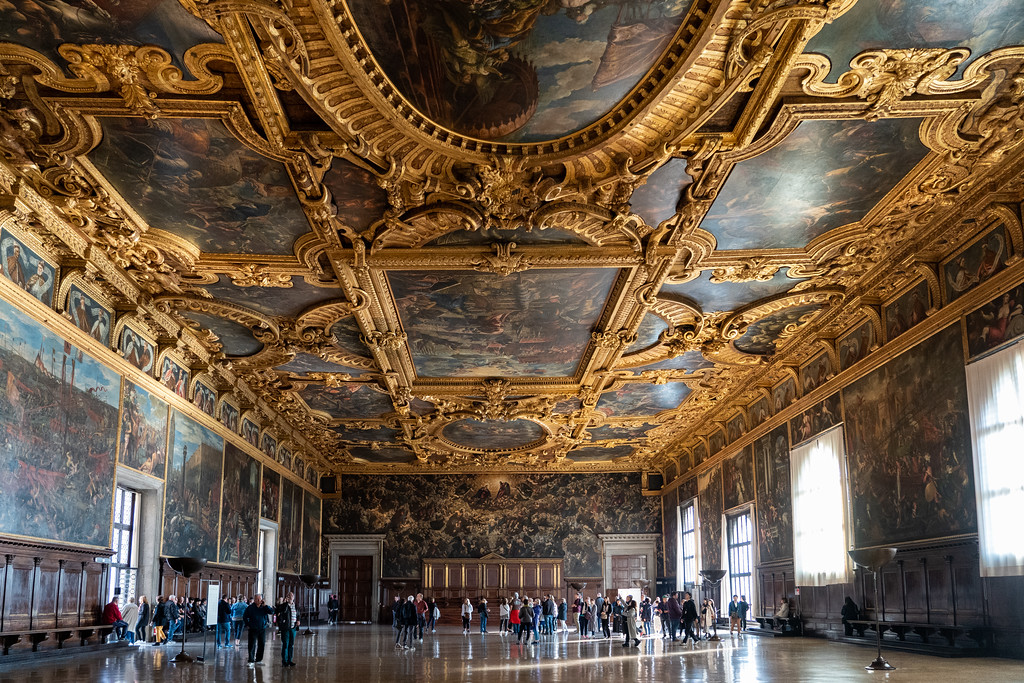 Grand Council Chamber in the Doge's Palace in Venice
