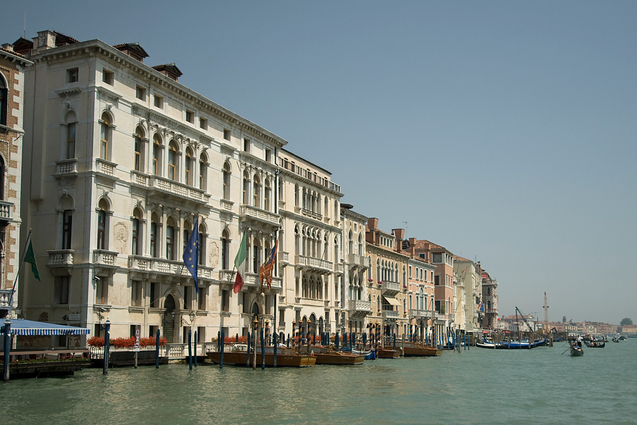 Buildings near the Grand Canal in Venice, Italy
