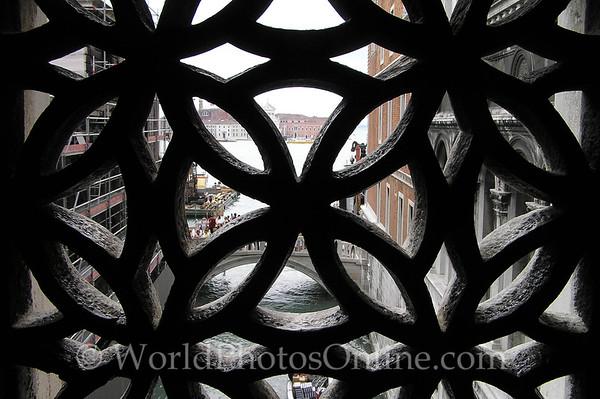 Venice - Doges Palace - Bridge of Sigh Lattice Window S