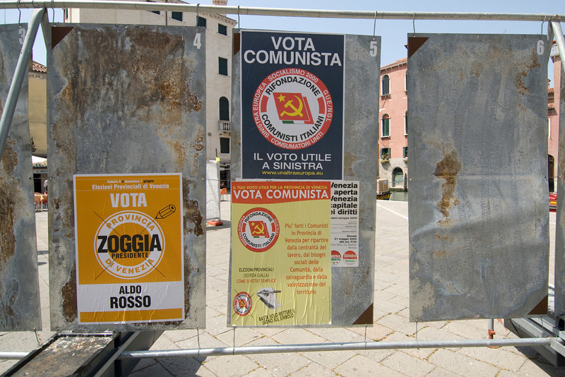 Propaganda sign in Venice, Italy