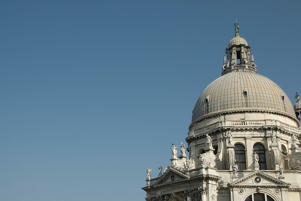 The dome of Santa Maria della Salute in Venice, Italy