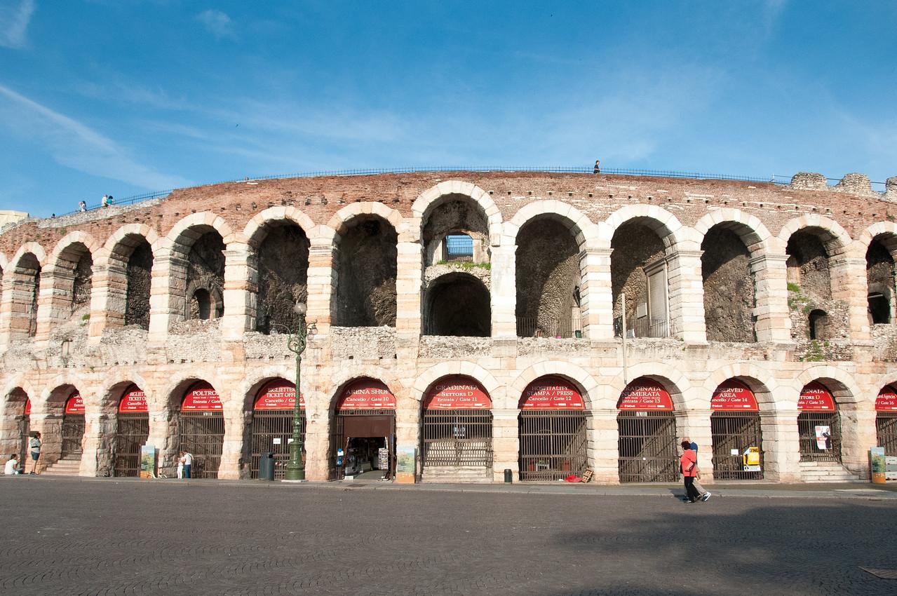 The Roman Ampitheatre in Verona, Italy