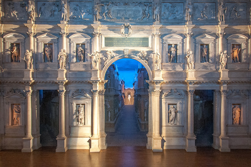 The Teatro Olimpico in Vicenza, Italy