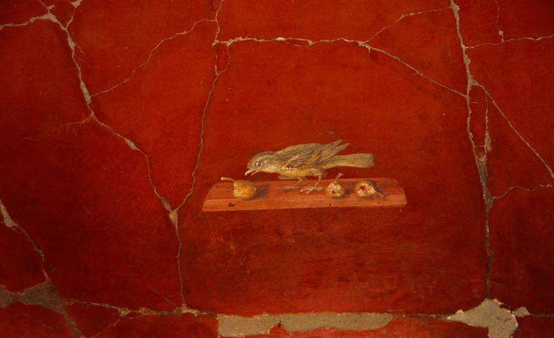 Italy, Villa Oplontis, Bird Fresco