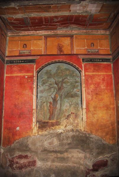 Italy, Villa Oplontis, Tree Fresco