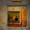 Italy, Villa Oplontis, Colorful Fresco Through Portal