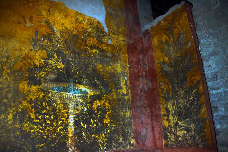 Italy, Villa Oplontis, Fountain Fresco