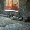 Italy, Villa Oplontis, Fresco and Old Tile Flooring